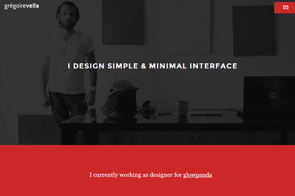 gregoire vella website portfolio layout