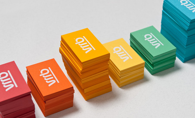 vrrb colorful print design business card