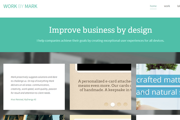 hendriks portfolio website layout webdesign