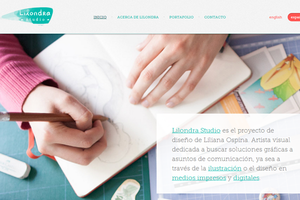 ospina portfolio website layout studio