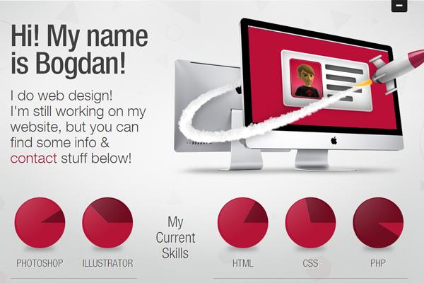 bogdan rosu website portfolio layout