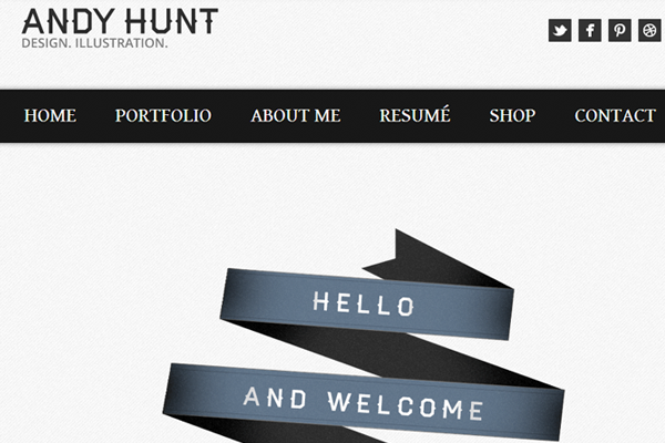 andy hunt website layout inspiration portfolio