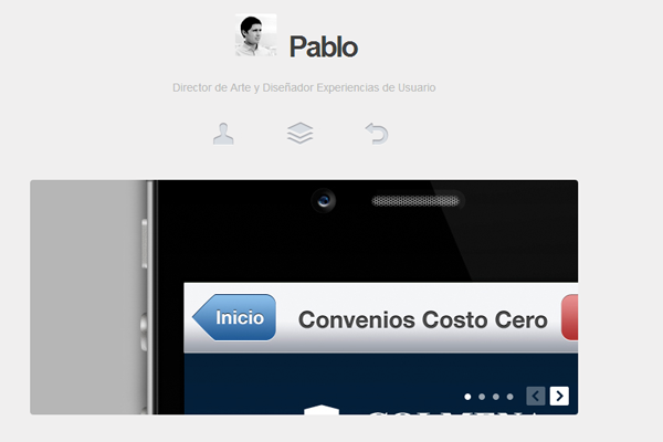 pablo vivanco website layout portfolio