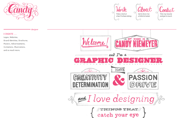 candy niemeyer website portfolio pink design