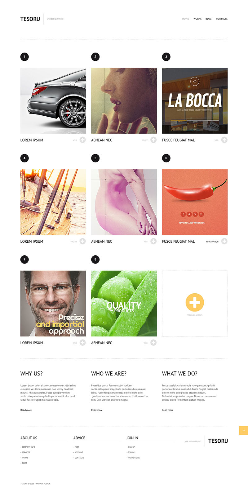 Grid Design WordPress Theme