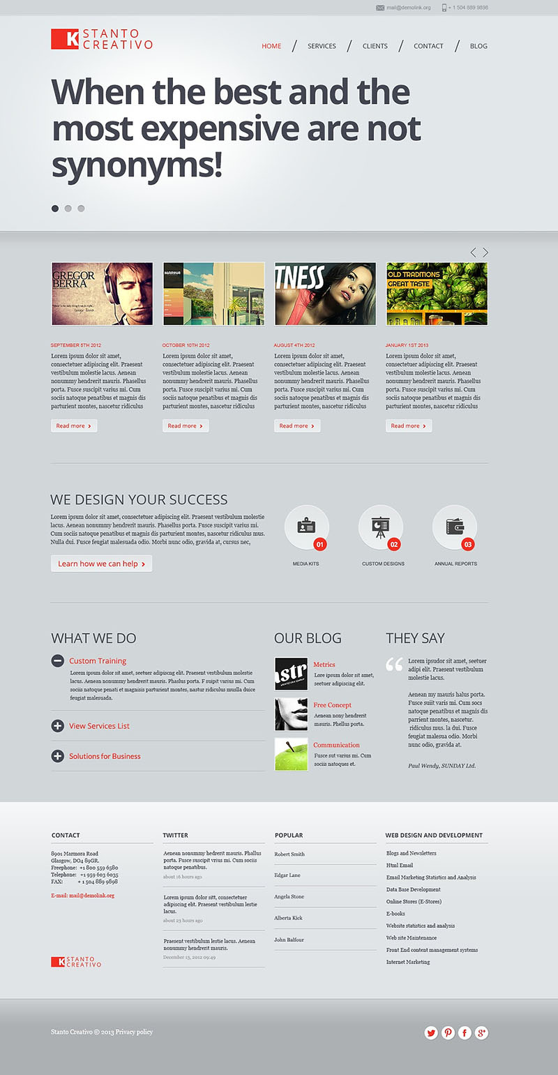 Creative Studio Joomla Template