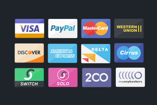 credit debit card set icons freebie psd