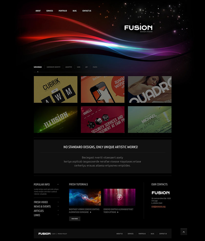 Futuristic Design Studio WordPress Theme