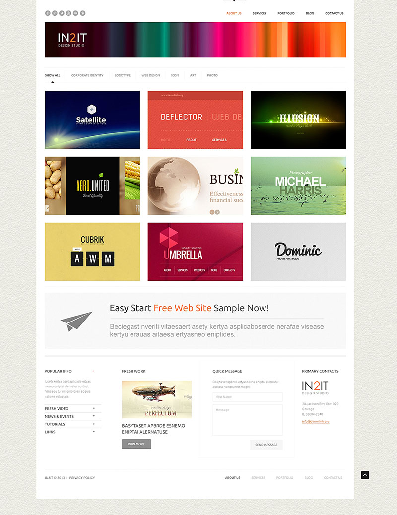 Minimalism Design Studio WordPress Theme