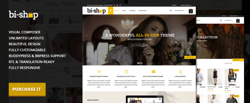 Bi-Shop All In One: E-commerce & Corporate Theme