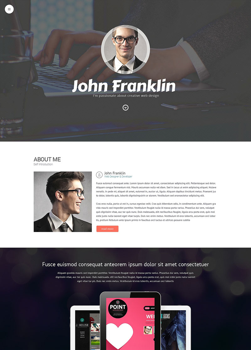 Designer's Portfolio WordPress Theme