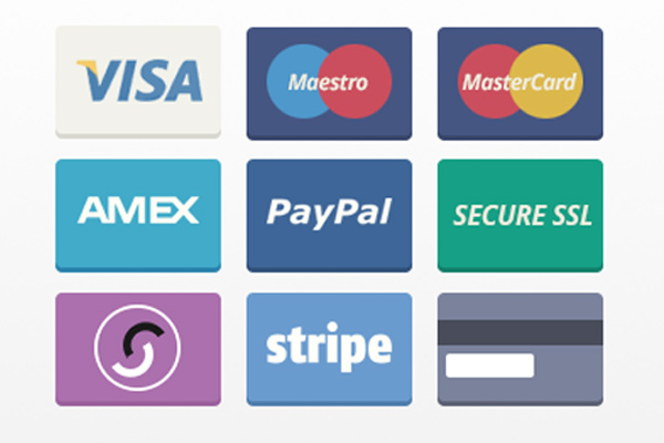 flat payment method icons freebie download