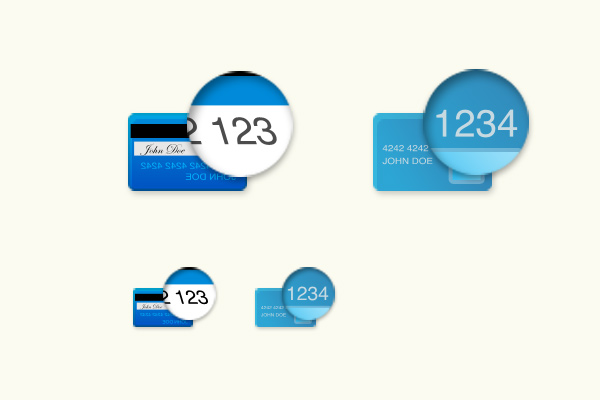 credit card ccv number icon design freebie