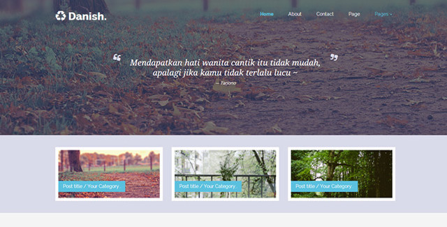 Danish - Personal Blog Template