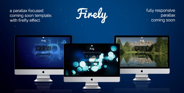 Firely - Parallax Coming Soon Template