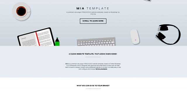 MIA One - Page Agency HTML Template