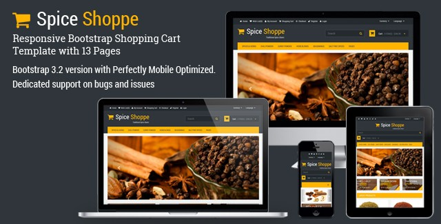 Spice Shoppe - Bootstrap Shopping Cart