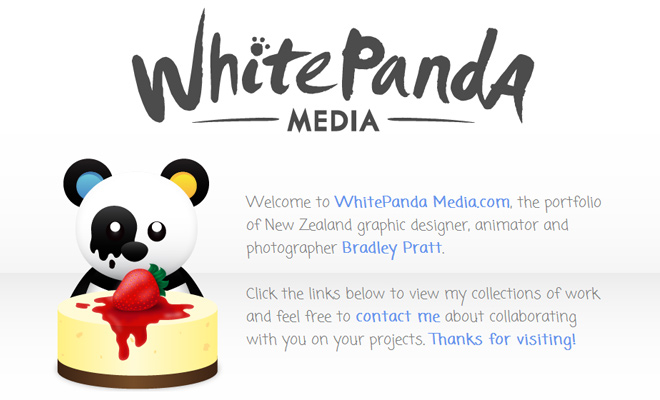 white panda media bradley pratt website design portfolio