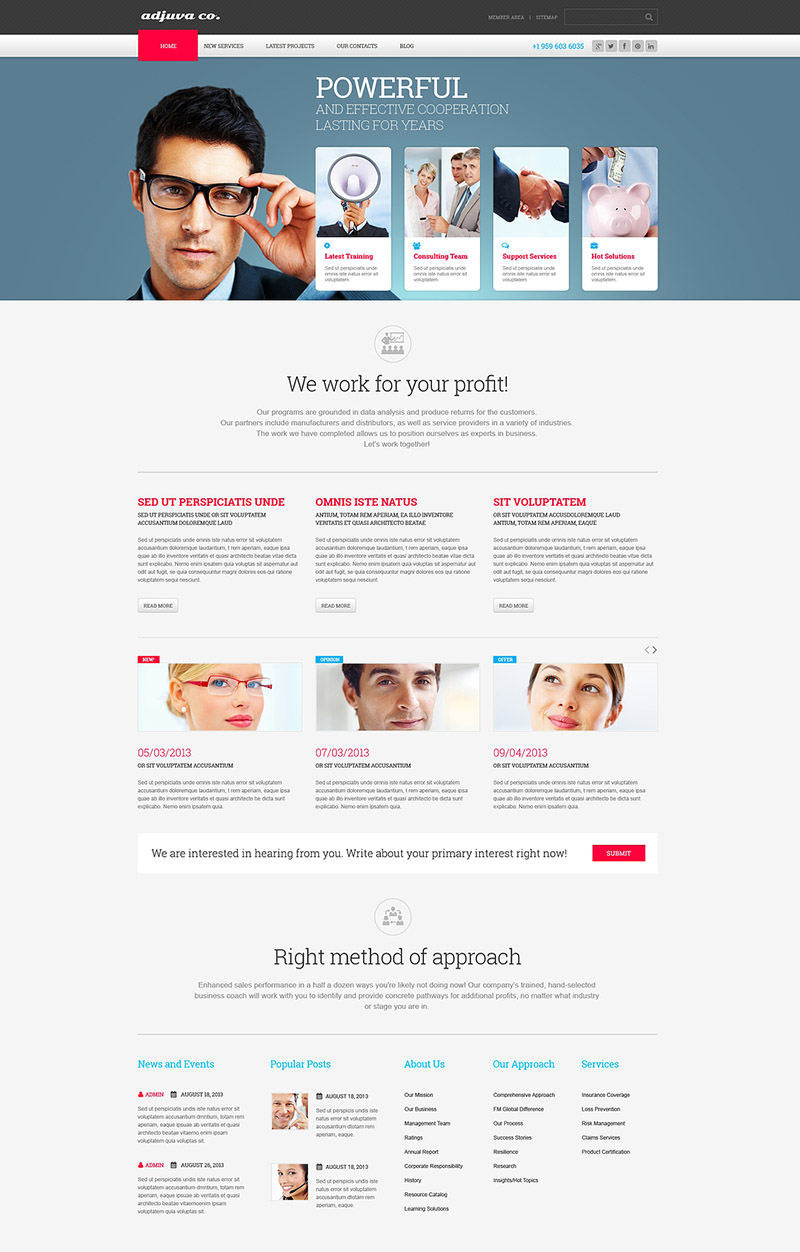 Metallic Management Business WordPress Theme