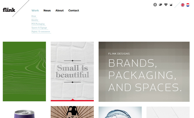 minimalist flink design agency portfolio clean