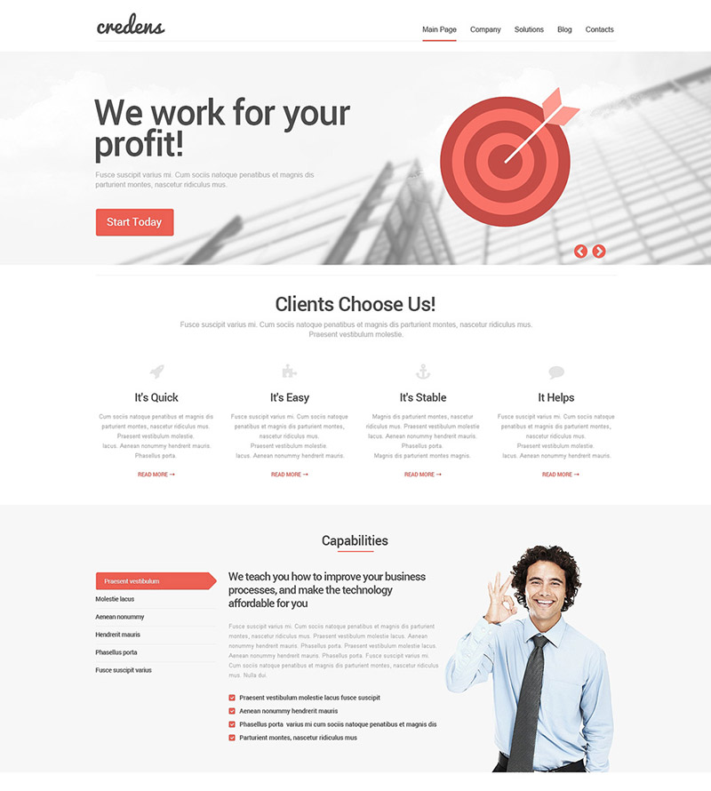 Hit the Target WordPress Theme