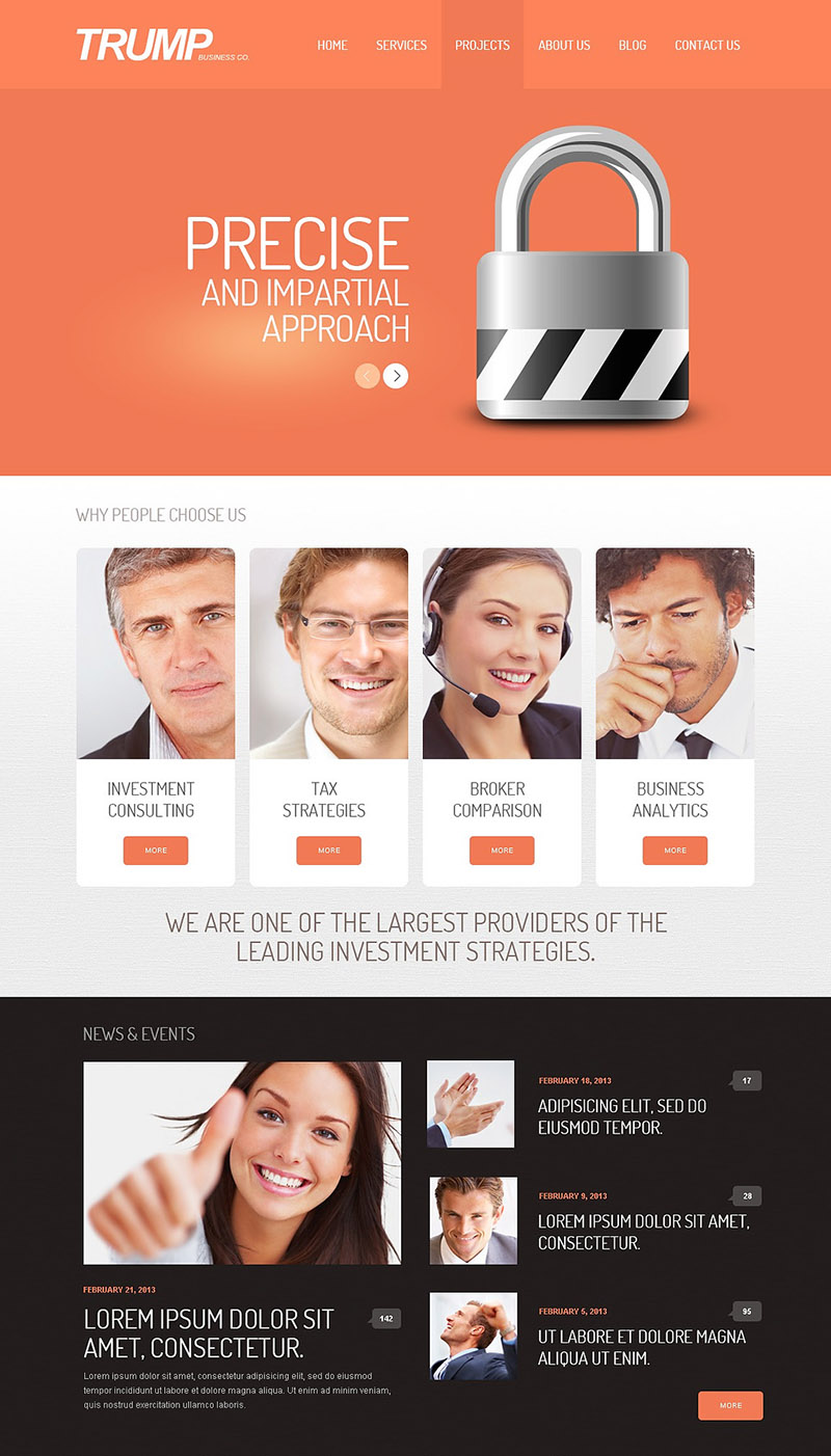Best Investment Strategies WordPress Theme