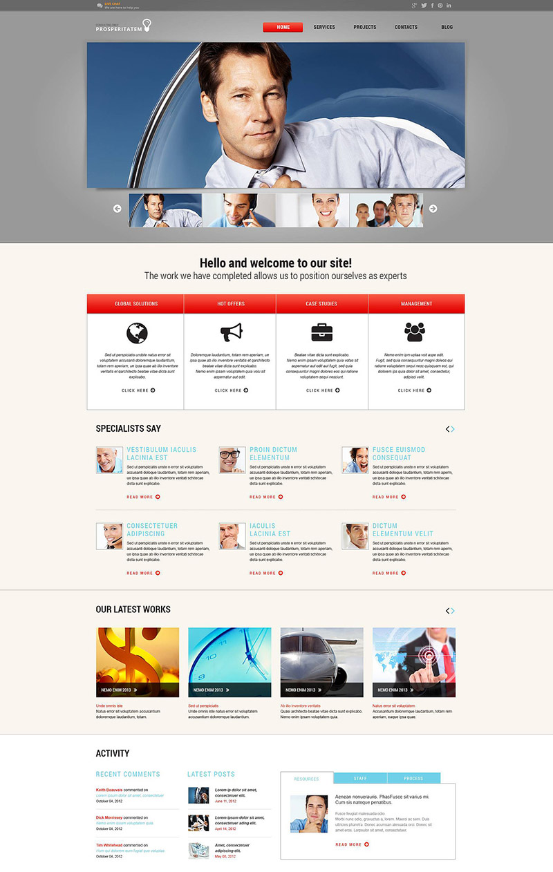 Financial Planner WordPress Theme
