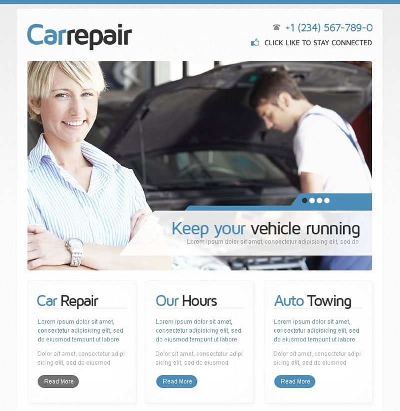 Car Repair Facebook Template