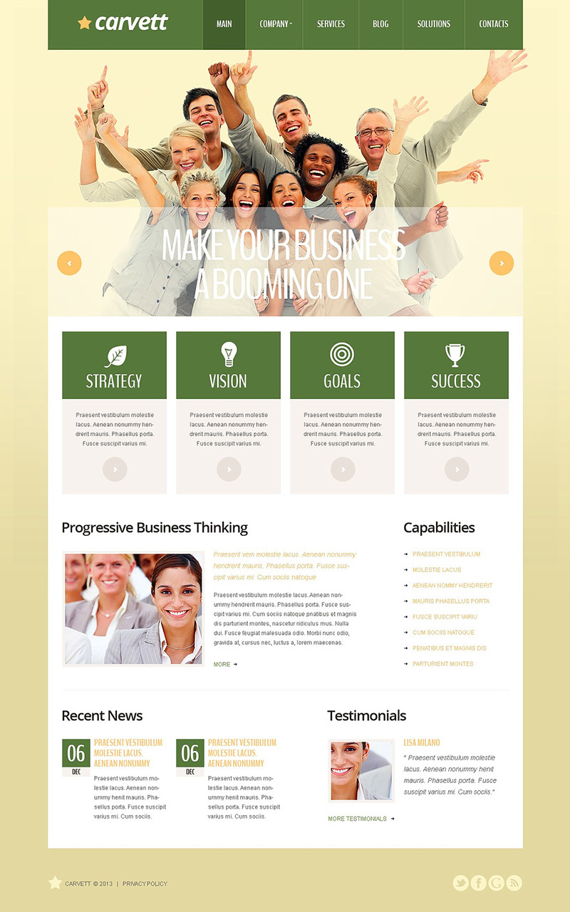 Olive Marketing Agency WordPress Theme
