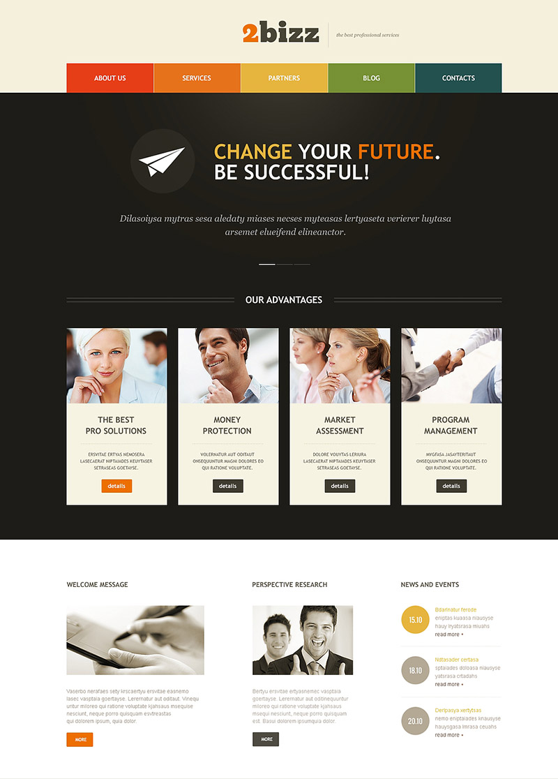 Change your Future WordPress Theme