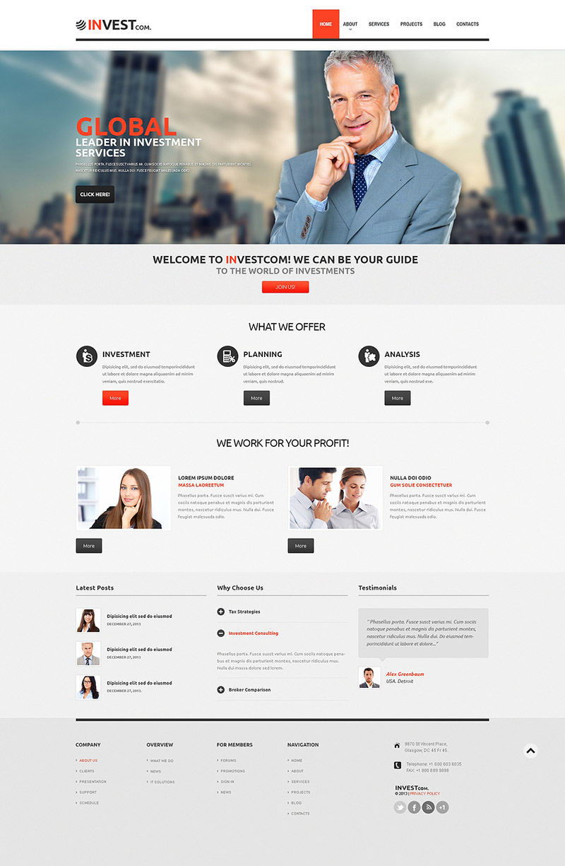 Global Investment WordPress Theme