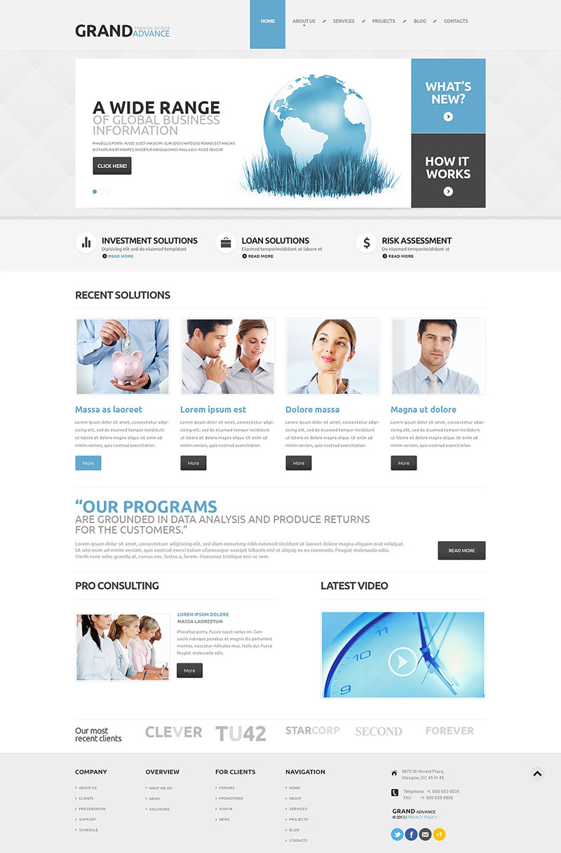 Financial Business WordPress Theme
