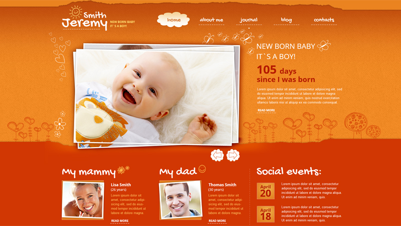 Newborn Website Design