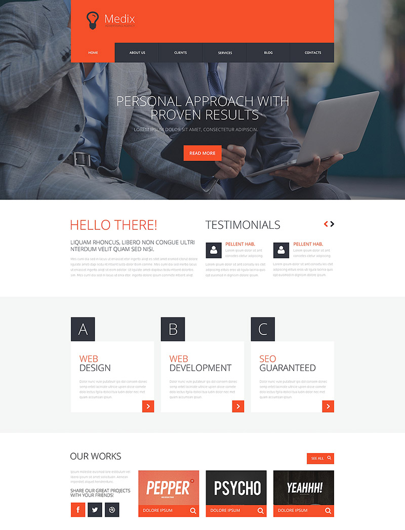 Interactive Ad Group WordPress Theme
