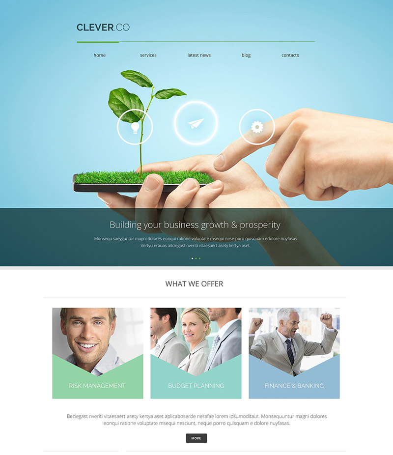 Planting Business WordPress Theme