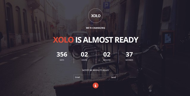 Xolo - Minimal Coming Soon Template