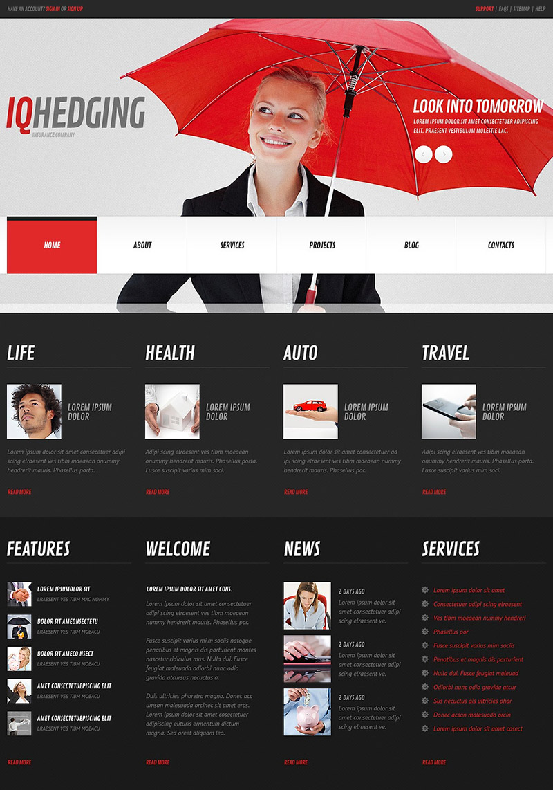 Glance into Tomorrow WordPress Theme