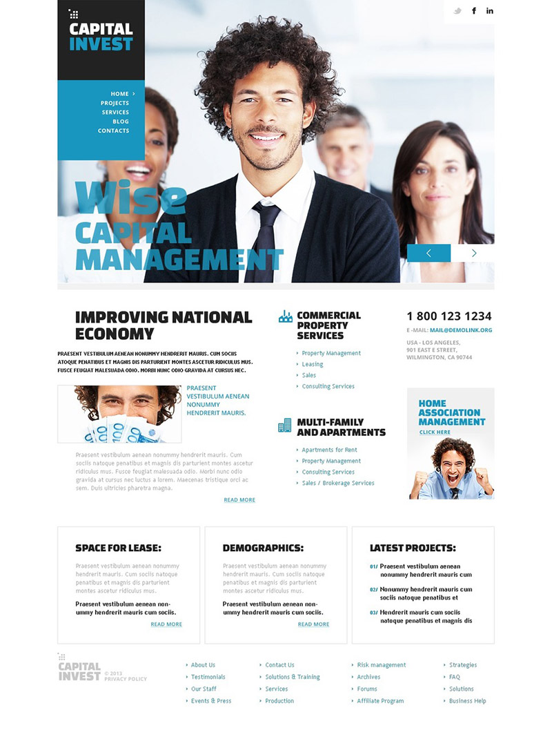 Capital Invest WordPress Theme