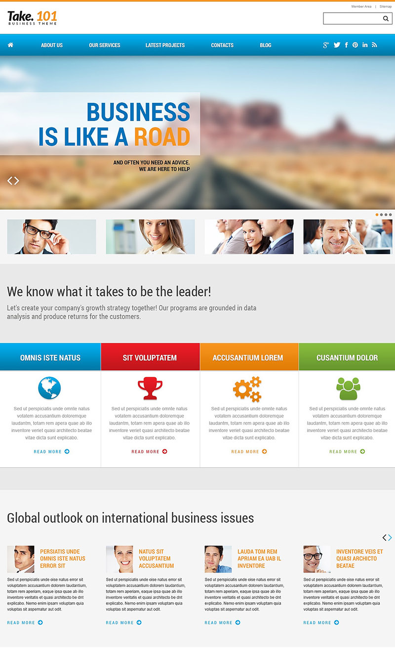 Road to Business WordPress Theme