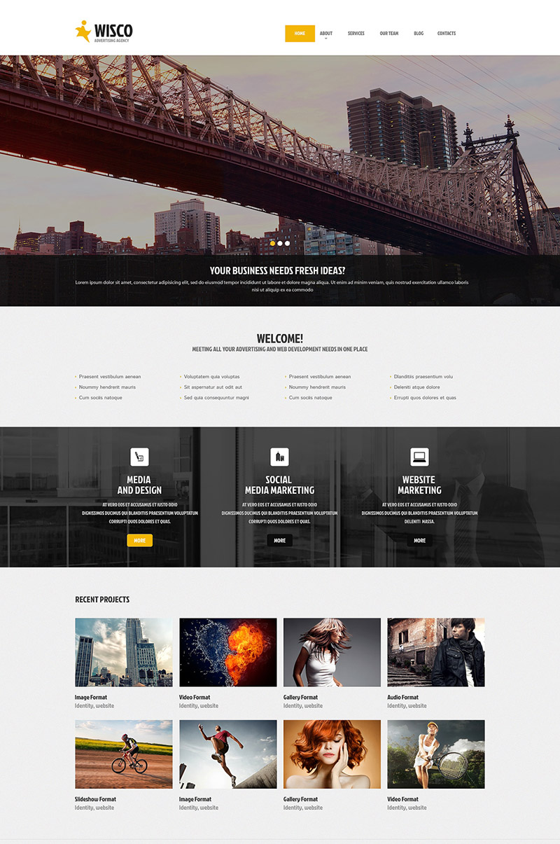 Media and Design WordPress Theme