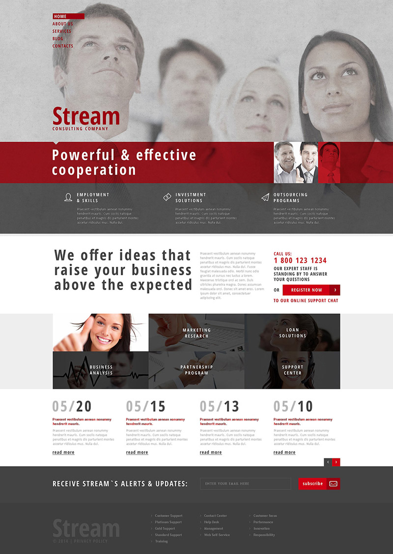 Stream Consulting Company WordPress Theme