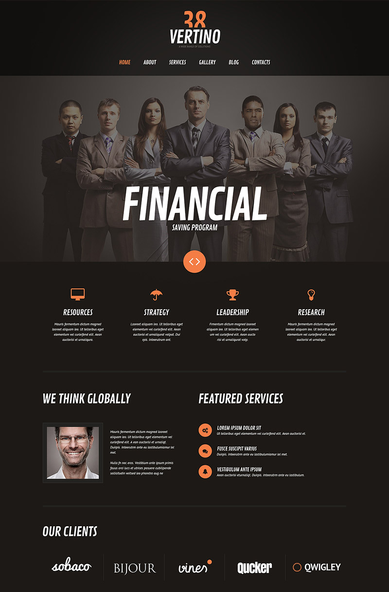 Black Investment Company WordPress Theme