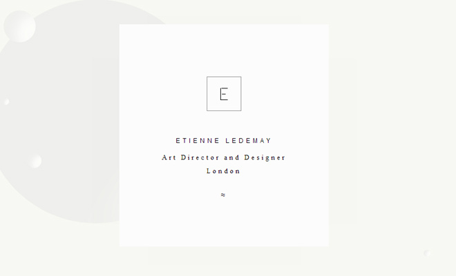 etienne ledemay art director portfolio website