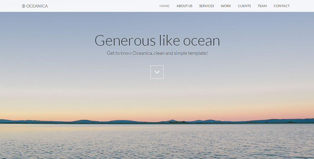 Oceanica - Responsive Single Page Theme