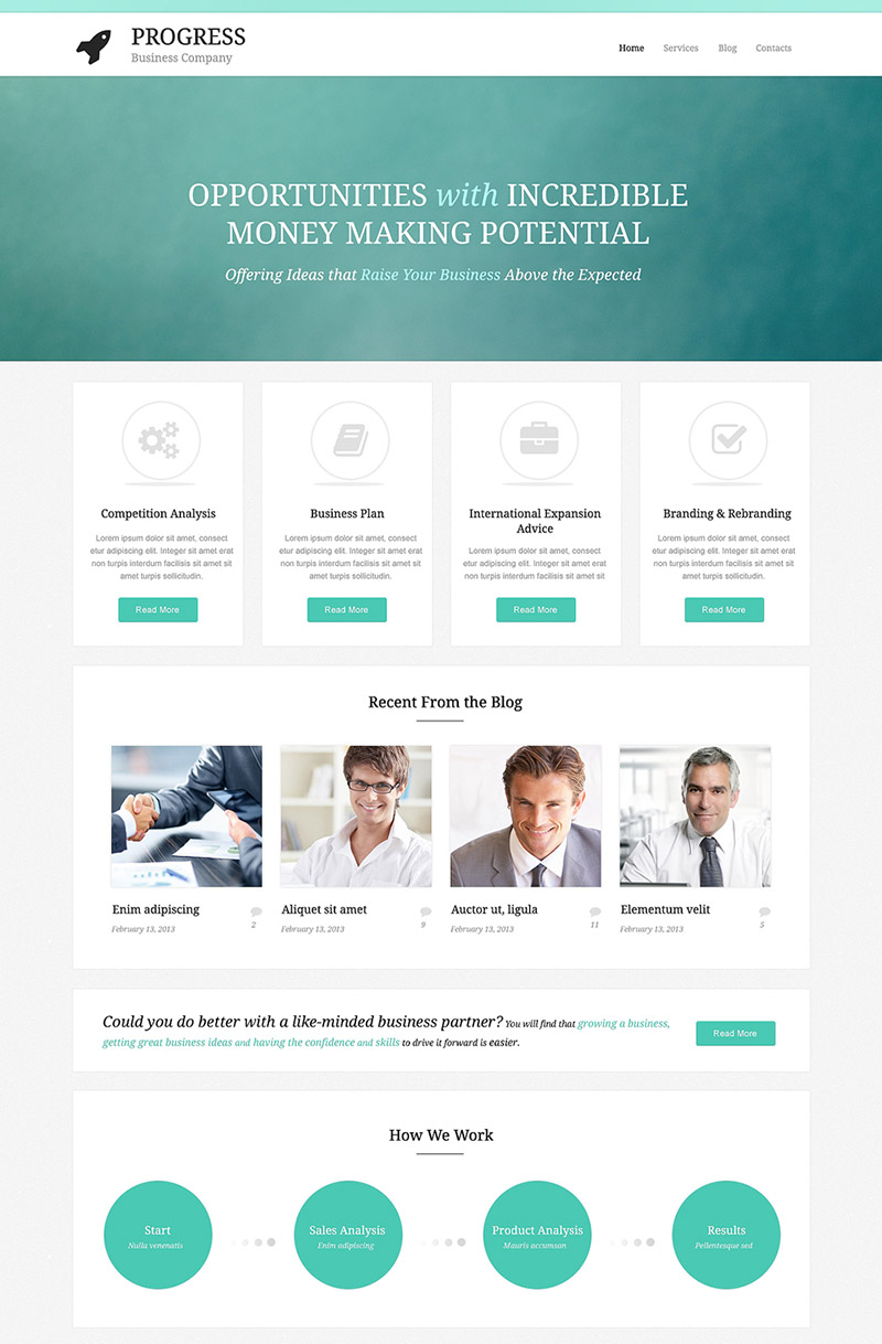 Business Opportunities WordPress Theme