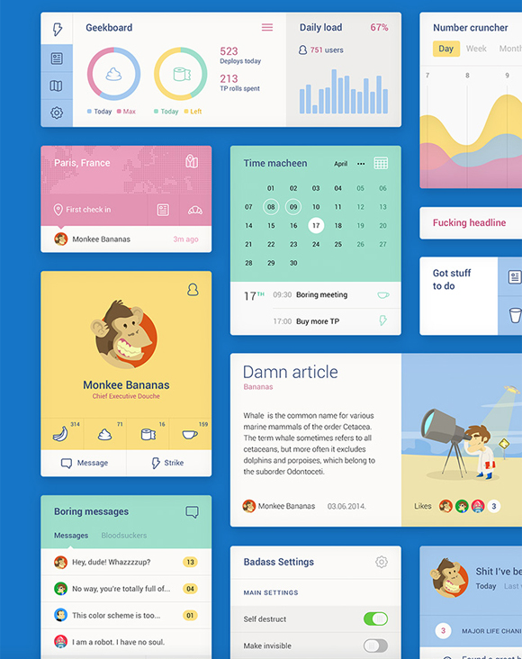 20 Fresh Flat UI Designs Free to Download