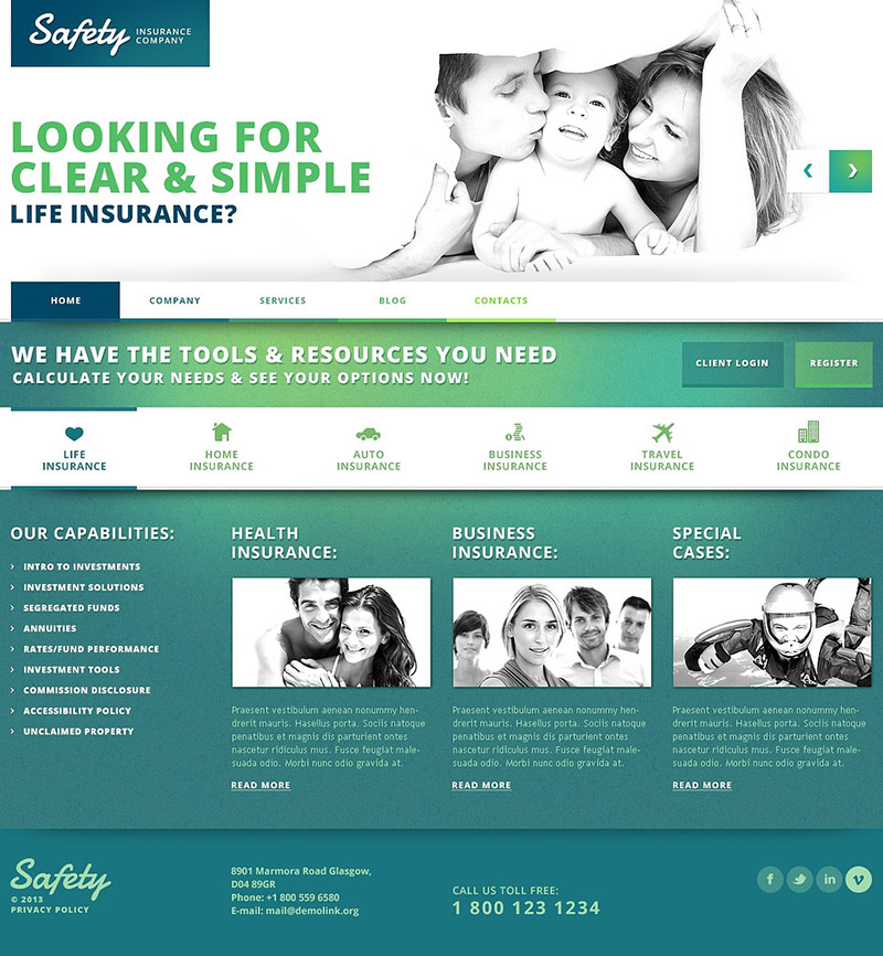 Family Insurance WordPress Theme