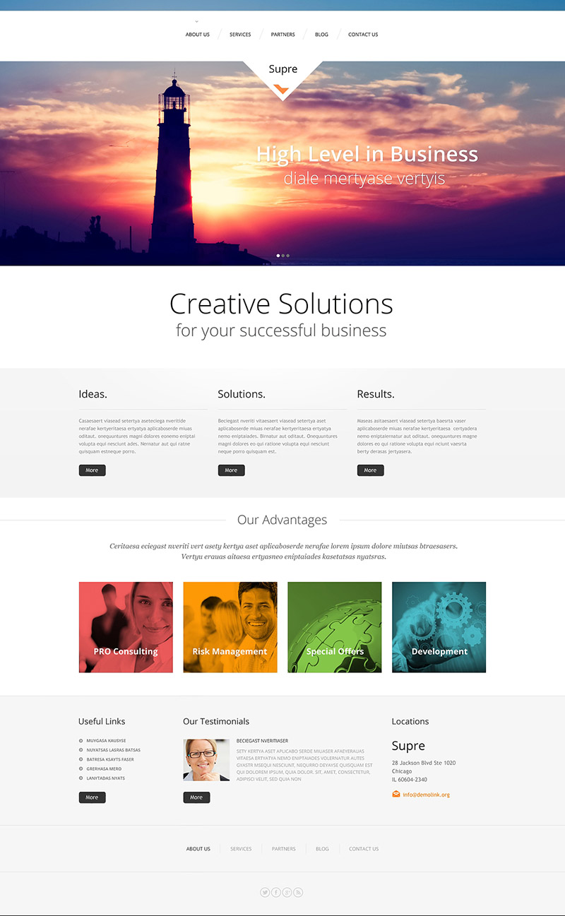 Lighthouse Business WordPress Theme