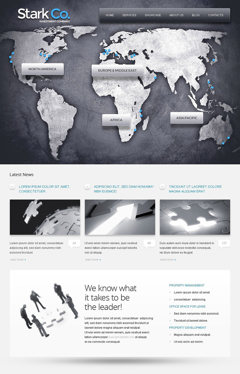 International Investment Business WordPress Theme