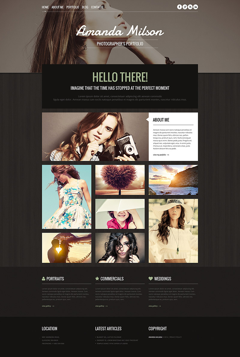 Stylish Photographer's Portfolio Template
